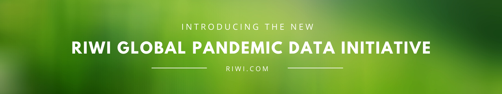RIWI Global Pandemic Data Banner